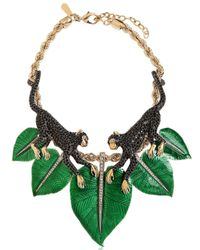 Roberto Cavalli | Green Monkey Necklace With Swarovski Crystals | Lyst