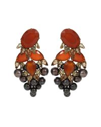 Iradj Moini - Black Cluster Pearl Fringed Earrings - Lyst