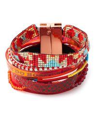 Hipanema - Red Stacked Bangle Bracelet - Lyst