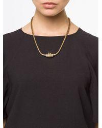Lanvin - Metallic Charm Necklace - Lyst