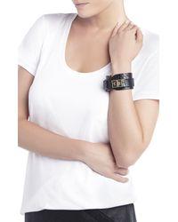 BCBGMAXAZRIA - Black Icon Turnlock Wrap Bracelet - Lyst