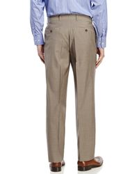 BOSS - Brown Flat Front Wool Dress Pants for Men - Lyst
