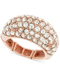 T Tahari | Pink Crystal Pavé Dome Stretch Ring | Lyst