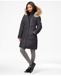 Madden Girl | Gray Faux-fur-trim Long Parka | Lyst