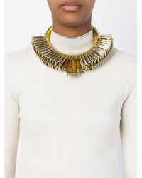 Sveva Collection - Metallic Pleated Choker - Lyst