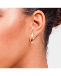 Dutch Basics - Metallic Ruit Classic Earrings Rose Gold - Lyst