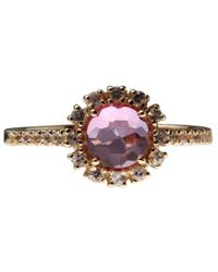 Suzanne Kalan - Pink Topaz And White Sapphire Starburst Ring - Lyst