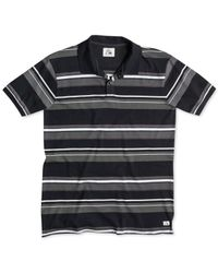 Quiksilver - Gray Decay Striped Polo for Men - Lyst