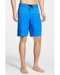 Volcom - Blue 'Mod Tech Pro' Board Shorts for Men - Lyst