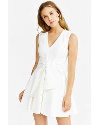 Keepsake - White High Tide Twist-front Dress - Lyst