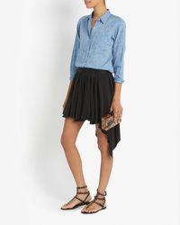 Nili Lotan - Blue Chambray Shirt - Lyst