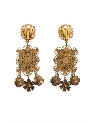 Dolce & Gabbana | Metallic Heritage Madonna Earrings | Lyst