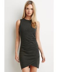 Forever 21 - Gray Contemporary Tulip Bodycon Dress - Lyst