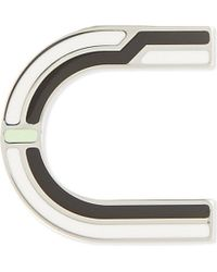 Proenza Schouler | Black Letter U Enamelled Brass Pin - For Women | Lyst