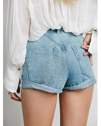 Free People | Blue One Teaspoon Womens Seamed High Rise Hawks | Lyst