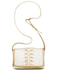 Cole Haan | White Hurrache Convertible Clutch | Lyst