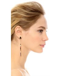 Tory Burch | Multicolor Stone Inlay Earrings | Lyst
