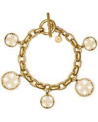 Michael Kors | Metallic Open Disk Charm Bracelet | Lyst