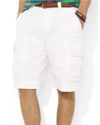 Polo Ralph Lauren - White Relaxed-Fit Classic Cargo Shorts for Men - Lyst