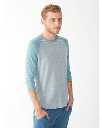 Alternative Apparel - Blue Willoughby Recycled Denim Baseball T-Shirt for Men - Lyst