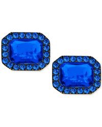 Michael Kors | Metallic Blue Crystal Earrings | Lyst