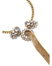 Erickson Beamon | Metallic 'damsel' Fringe Crystal Necklace | Lyst