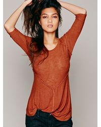 Free People - Brown Intimately Womens Weekends Layering Top - Lyst