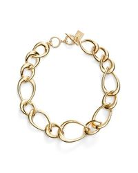 Anne Klein | Metallic Tapered Link Collar Necklace | Lyst