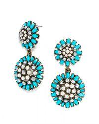 BaubleBar | Blue Crystal Dandelion Drops | Lyst