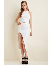 Forever 21 - White Maurie & Eve Ribbed Bodycon Dress - Lyst