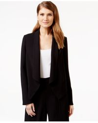 Cece by Cynthia Steffe | Black Cece Shawl-collar Open-front Jacket | Lyst