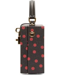 Dolce & Gabbana | Black And Red Polka Dot Leather Cady Box Bag | Lyst