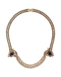 Aerin | Metallic Twist Chain Crystal Necklace | Lyst