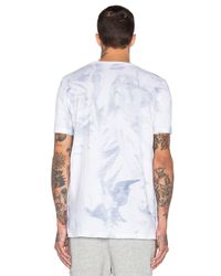 Stampd - Blue White Wash Printed Tee for Men - Lyst