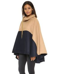Shades of Grey by Micah Cohen - Natural Colorblock Ponocho - Lyst