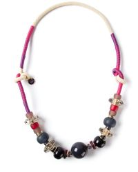 Emporio Armani | Purple Bead Necklace | Lyst