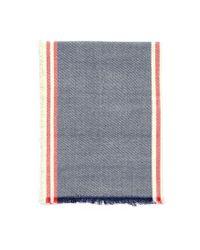Forever 21 | Blue Frayed Stripe-patterned Scarf | Lyst