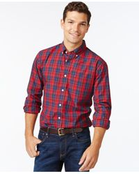 Tommy Hilfiger | Blue Osbourne Plaid Long-sleeve Shirt for Men | Lyst