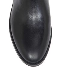 Vince Camuto | Black Pyran Two-tone Leather Riding Boots | Lyst