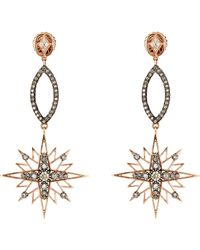 Sara Weinstock | Metallic Starburst Chandelier Drop Earrings | Lyst