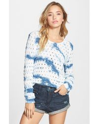 RVCA - Multicolor 'breezy' Open Knit Sweater - Lyst