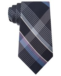 Michael Kors | Blue Michael Tri-color Plaid Tie for Men | Lyst