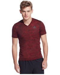 Adidas | Red Team Issue V-neck T-shirt for Men | Lyst