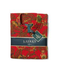Ralph Lauren - Red Cotton-blend Pajama Set - Lyst