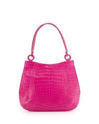 Nancy Gonzalez - Pink Small Crocodile Hobo Bag - Lyst