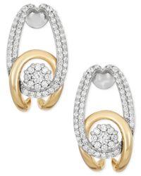 Wrapped in Love - Metallic ™ Diamond Interlocking Earrings (1/2 Ct. T.w.) In 14k Gold - Lyst