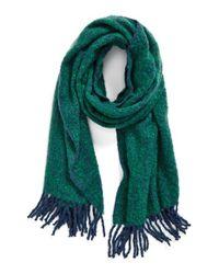 La Fiorentina - Green Oversized Scarf - Lyst