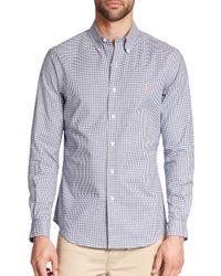 Polo Ralph Lauren - Blue Slim-fit Tattersall Stretch-oxford Sportshirt for Men - Lyst