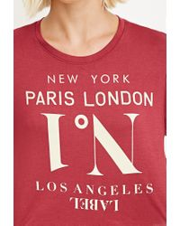 Forever 21 - Purple Cities Graphic Tee - Lyst