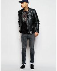 ASOS - Black T-shirt With Aztec Print Yoke And Pocket for Men - Lyst